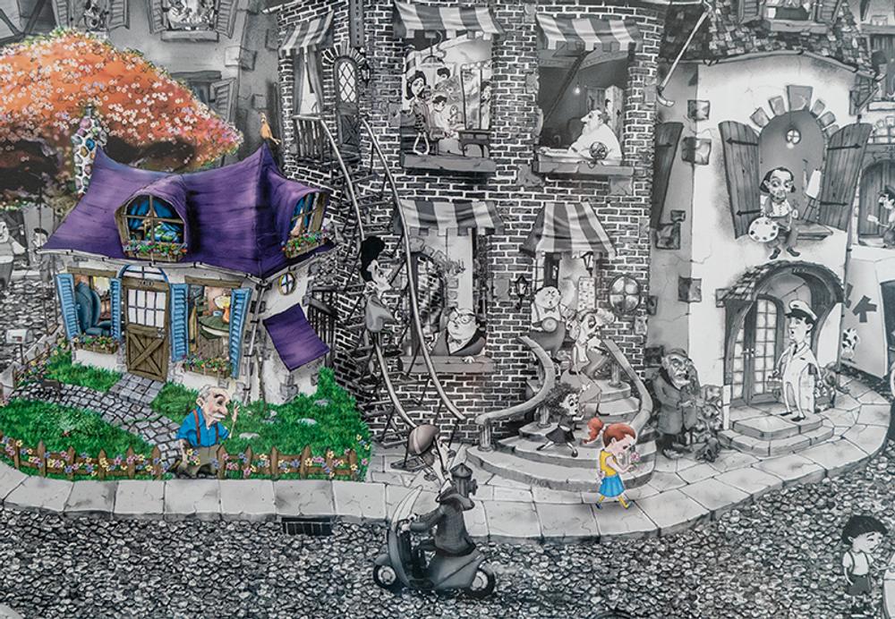 Street Scene 1000 Piece Puzzle