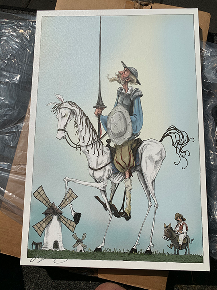 Don Quixote / Approx 16x24 Canvas
