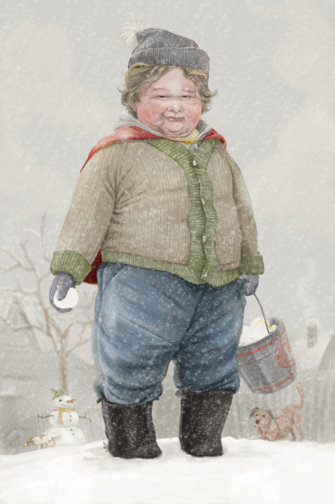"""He Knows If You've Been Bad or Good / 5x7"""" Christmas Greeting Card*"""