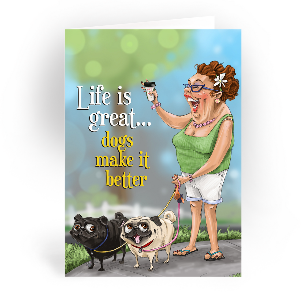 """Life is Great / 5x7"""" Christmas Greeting Card*"""