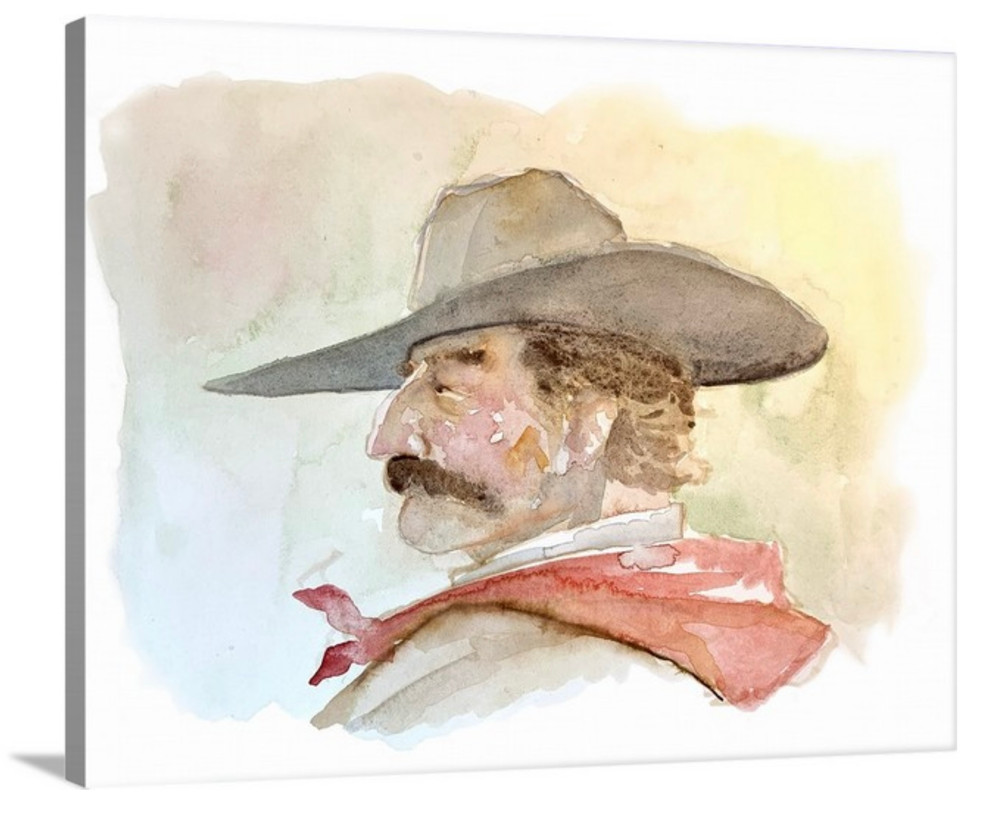"""Cowboy in Red Bandanna / 16x20"""" Canvas / $75 OFF + Free Shipping"""