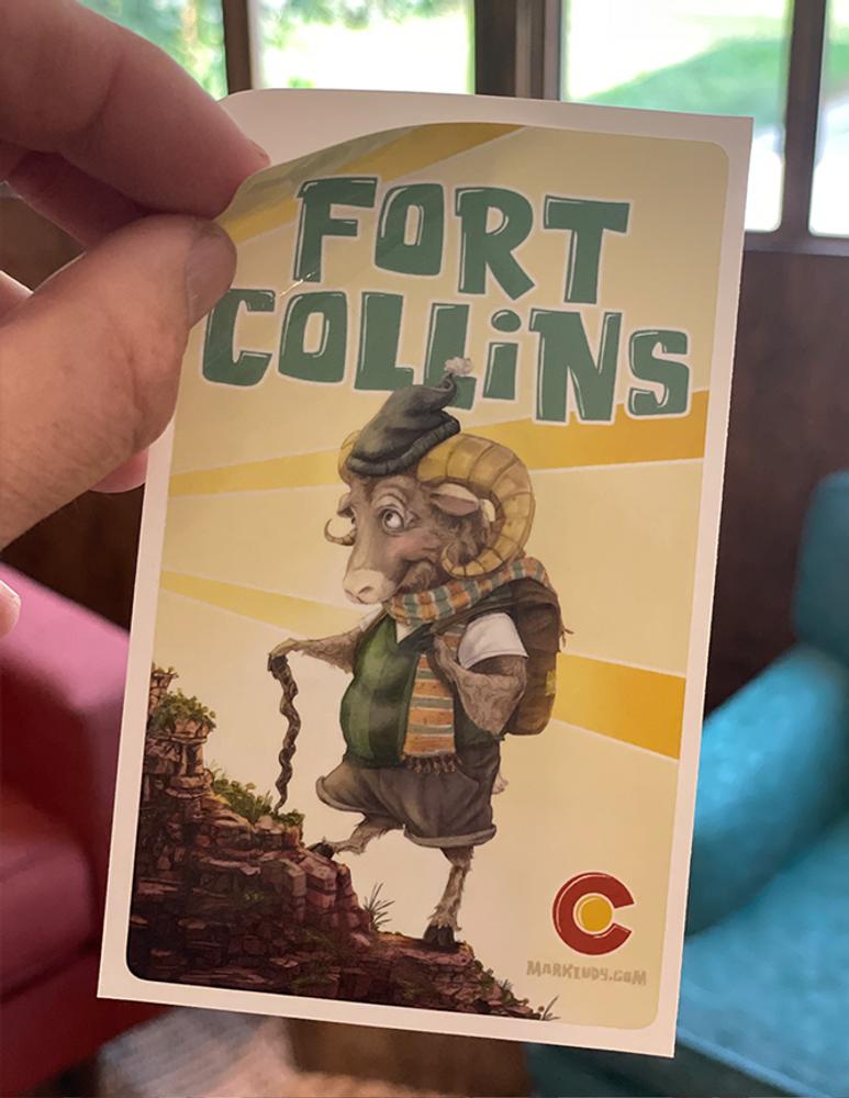 "Fort Collins Hiking / Sticker 3x5"""