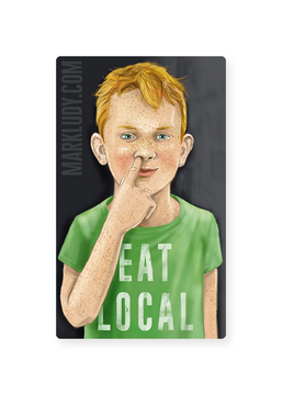 "Eat Local / Sticker 3x5"""