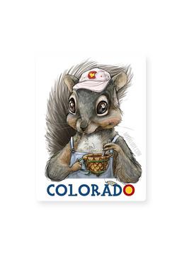 """Colorado Squirrel / Sticker 3x5"""""""