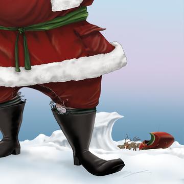 """Sippin' Santa / 5x7"""" Christmas Greeting Card"""