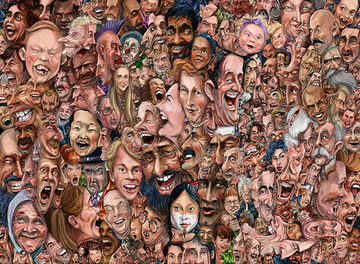 1,000 Faces / a 300 Piece Puzzle