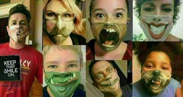 Dracula Face Mask