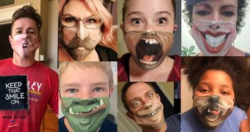 White Stache / Face Mask