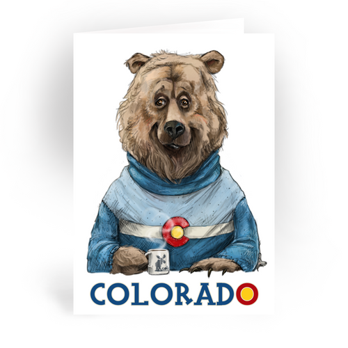 "Colorado Bear / 5x7"" Greeting Card*"