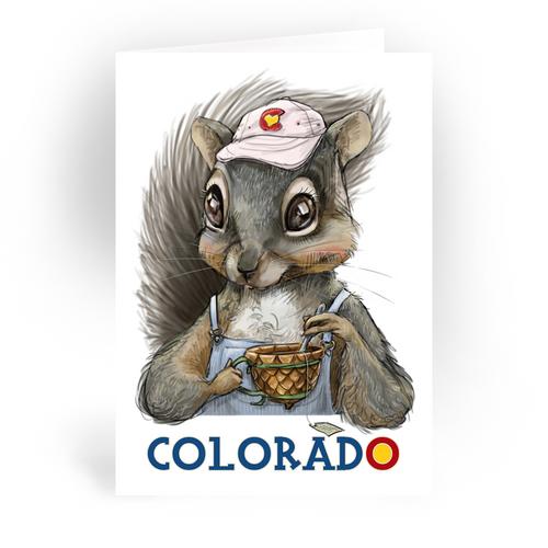 """Colorado Squirrel / 5x7"""" Greeting Card*"""
