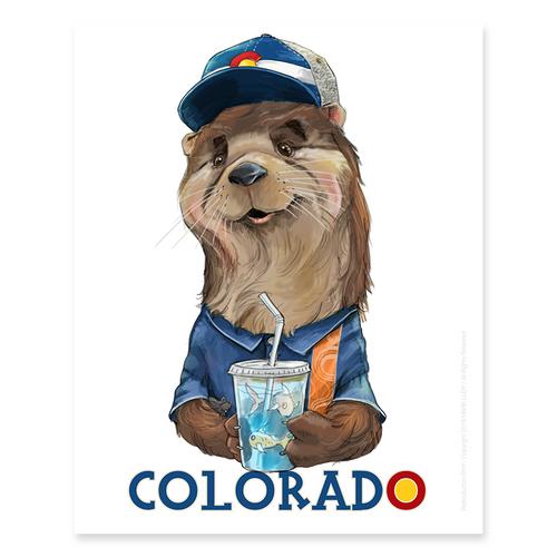Colorado Otter / Sm Print