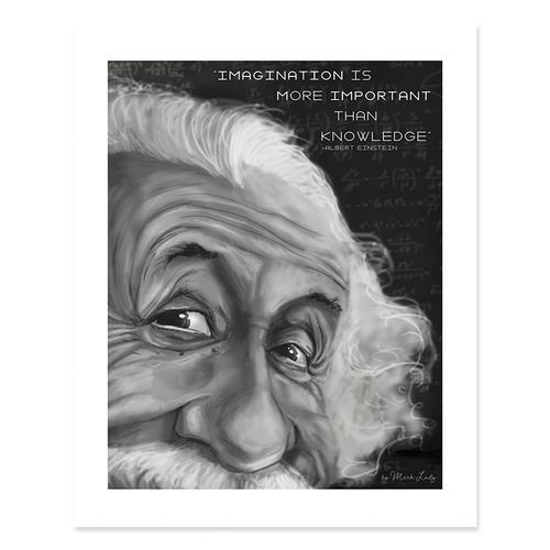 Einstein Imagination Quote / Sm Print