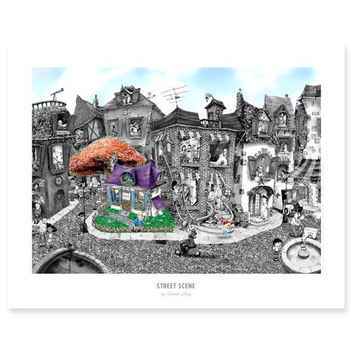 Street Scene / Sm Print