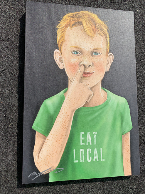 Eat Local / 12x18 Canvas
