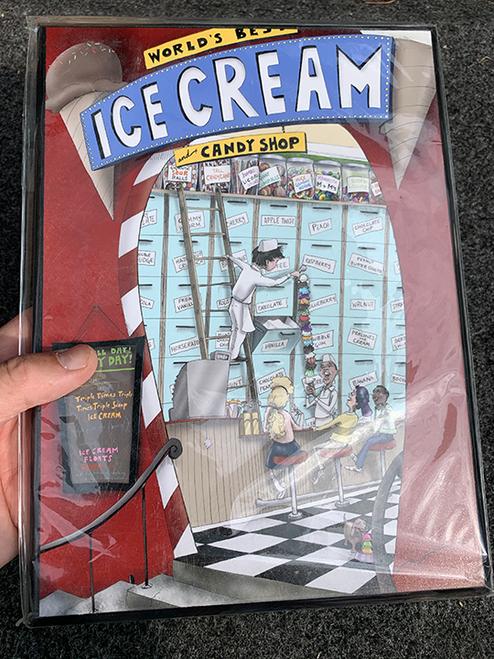 My Ice Cream Shop / 8x11 Wood Plaque