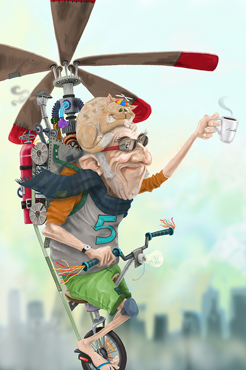 Helicopter Man / Artwork by Mark Ludy