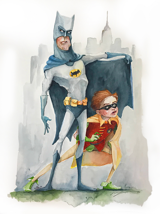 Batman & Robin / Artwork by Mark Ludy