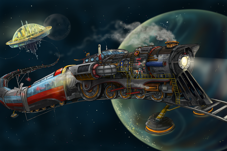 Space Train / Artwork