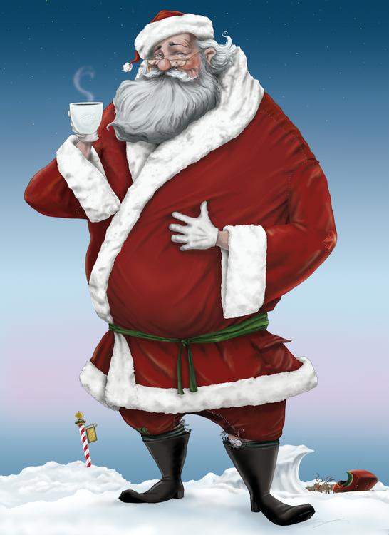Sippin' Santa Artwork
