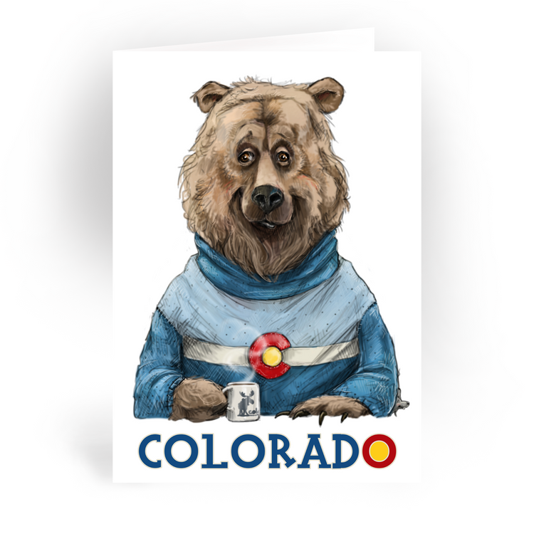 "Colorado Bear / 5x7"" Greeting Card*"