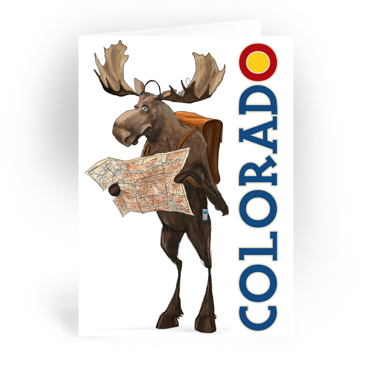 "Colorado Moose / 5x7"" Greeting Card*"