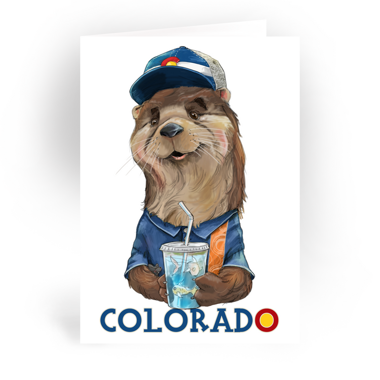 "Colorado Otter / 5x7"" Greeting Card*"