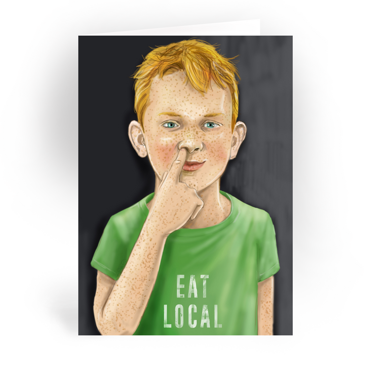"Eat Local / 5x7"" Greeting Card*"