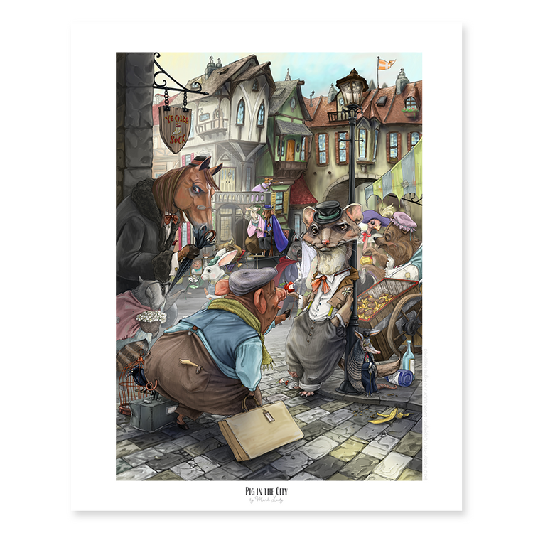 Pig in the City / Small Prints