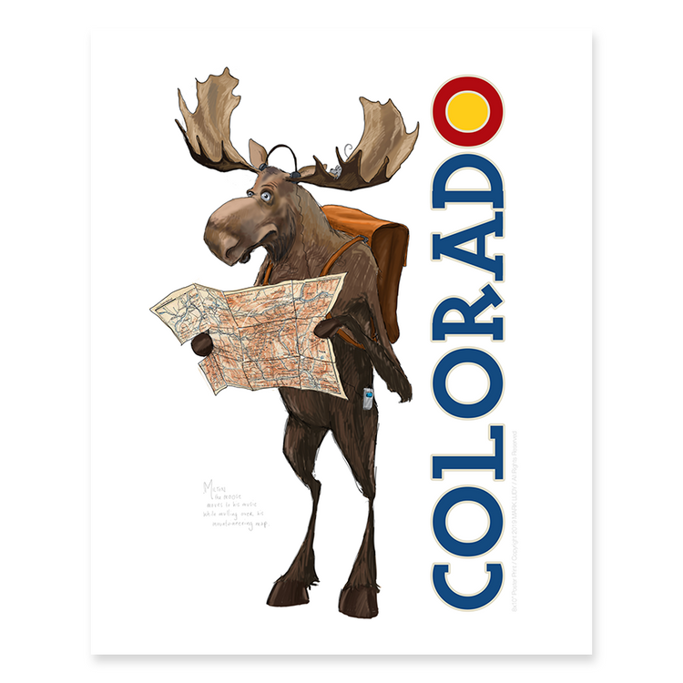 Colorado Moose / Sm Print