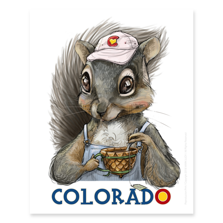 Colorado Squirrel / Sm Print