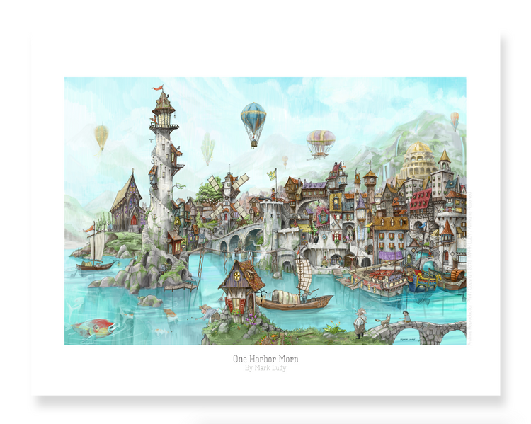 One Harbor Morn / Sm Print