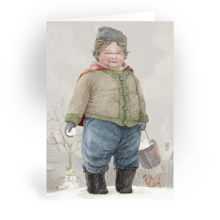 "He Knows If You've Been Bad or Good / 5x7"" Christmas Greeting Card*"