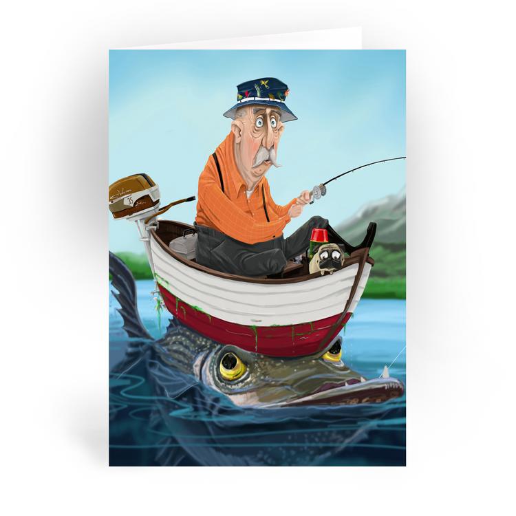"Big Fish / 5x7"" Greeting Card"