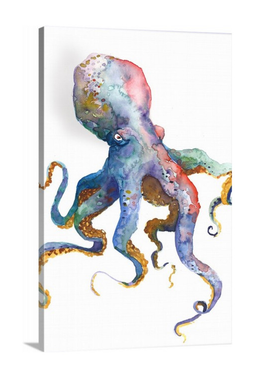 "Octopus / 24x36"" on Canvas + Free Shipping"