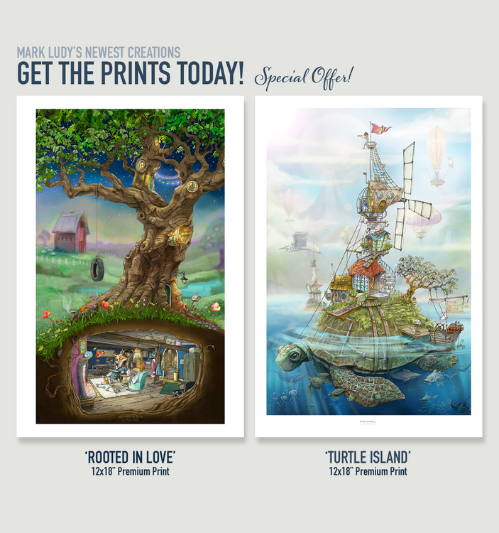 NEW PRINT RELEASE! 'Rooted In Love' & 'Turtle Island'