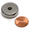 Neodymium Pot 25mm dia. Countersunk 17.5kg Holding Force