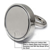Neodymium Pot 75mm dia. /w Eyebolt 183kg Holding Force Fishing Magnet