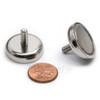 Neodymium Pot 25mm dia. Male Thread 17.5kg Holding Force