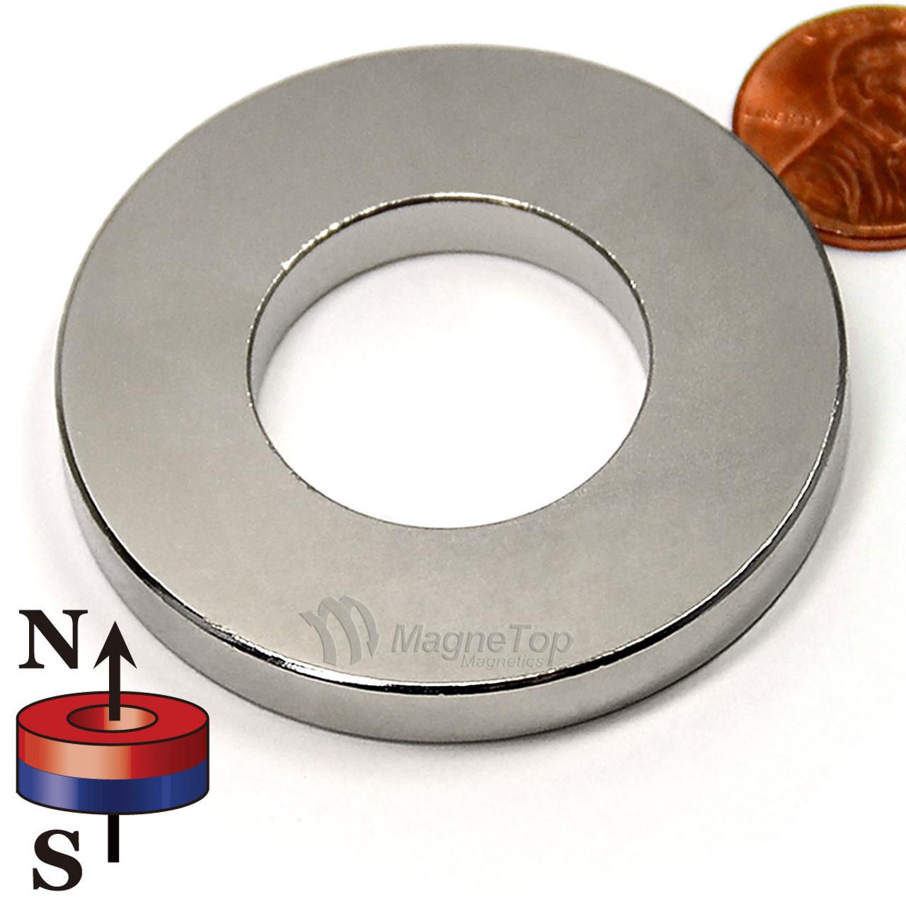 50.8mm (OD) x 25.4mm(ID) x 6.35mm - N45-Neodymium Ring