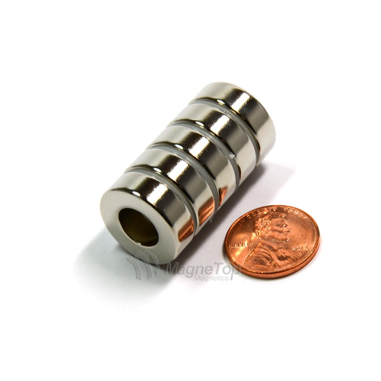 12mm (OD) x 10mm(ID) x 6mm - N45-Neodymium Ring