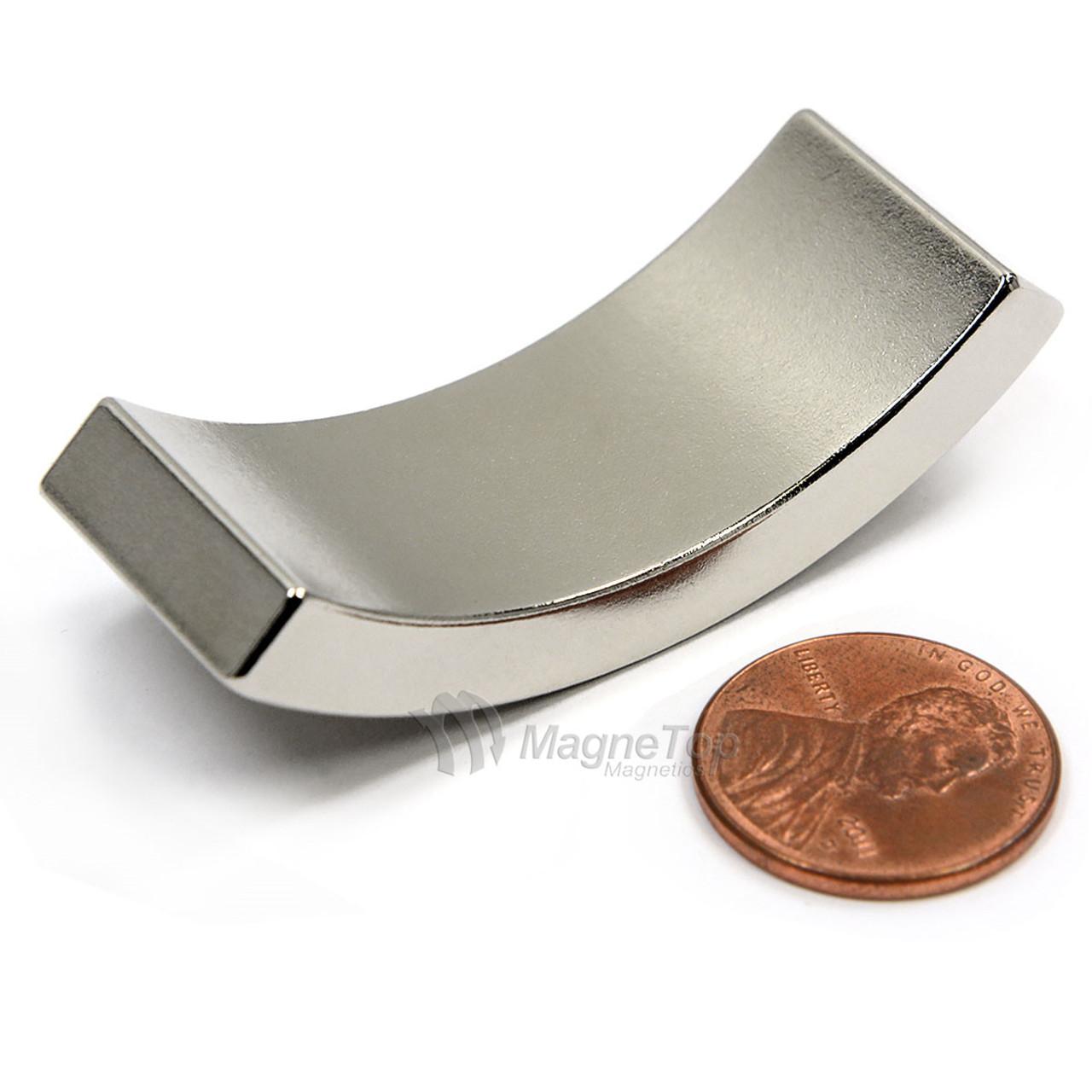 76.2mm (OD) x 63.5mm(ID) x 19mm 90 Degree -N42HT-S Pole Neodymium Arc