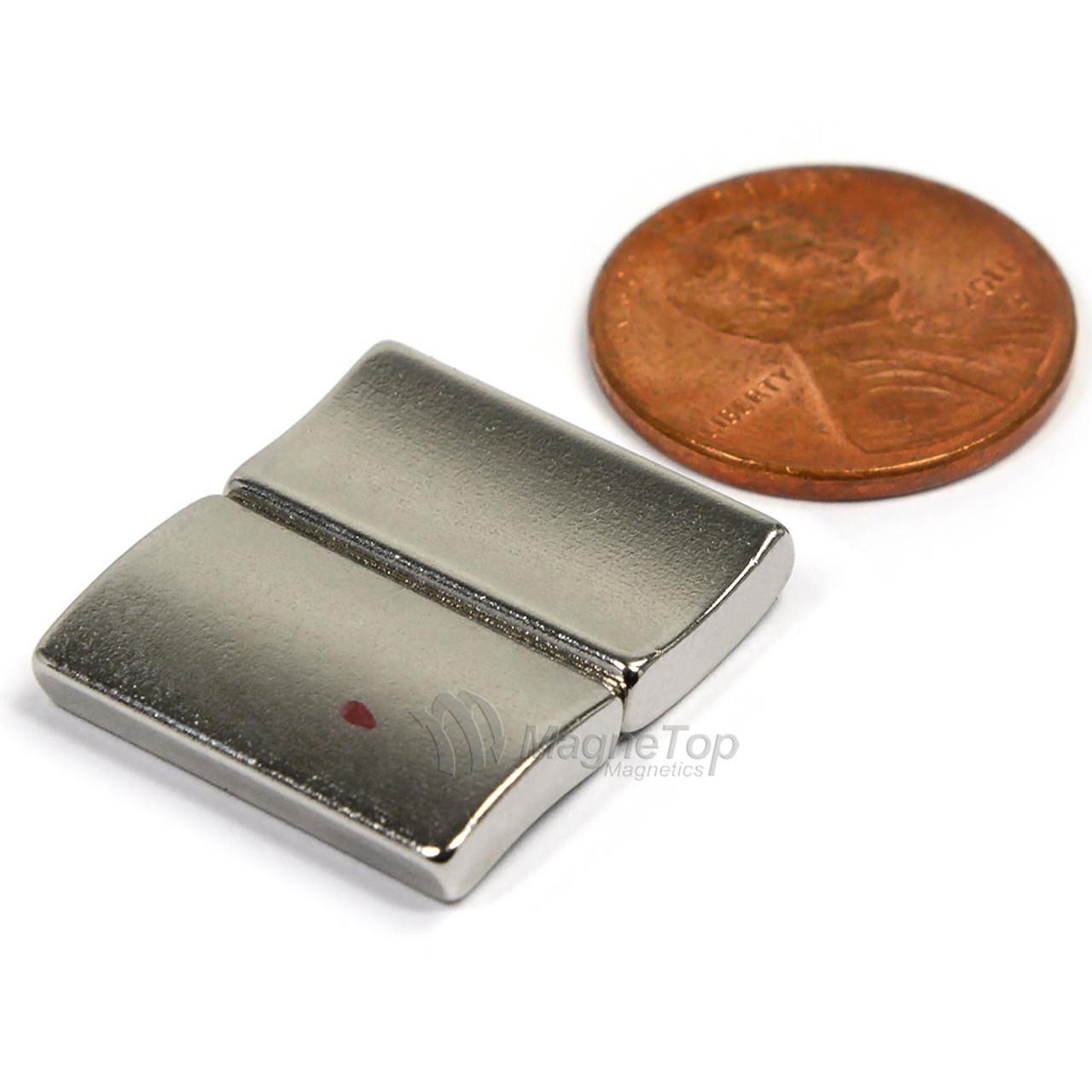 38.1mm (OD) x 31.75mm(ID) x 19mm 36 Degree -N42HT-S Pole Neodymium Arc