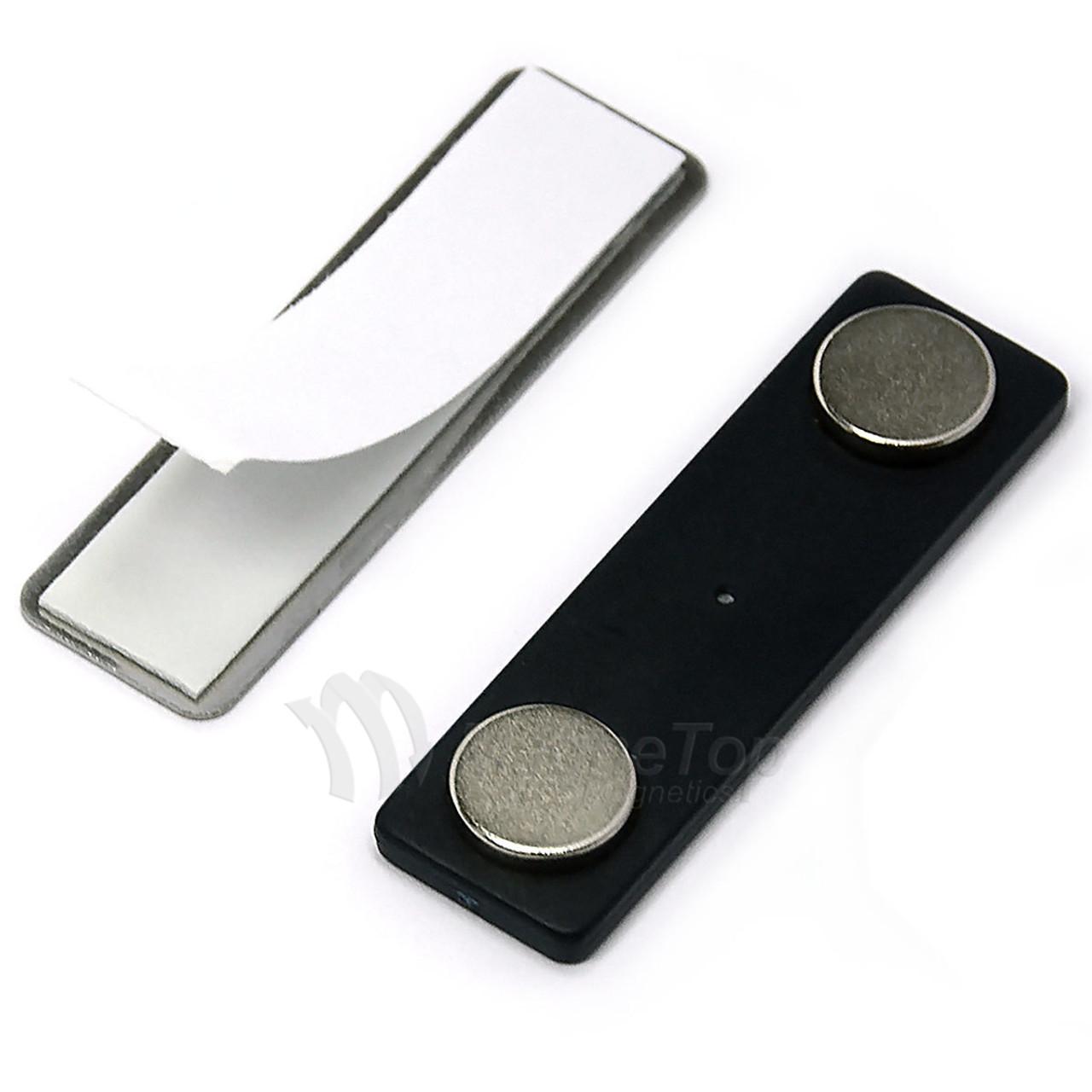 Name Tag Badge Magnet Set of 100 /w Adhesive 2MG4