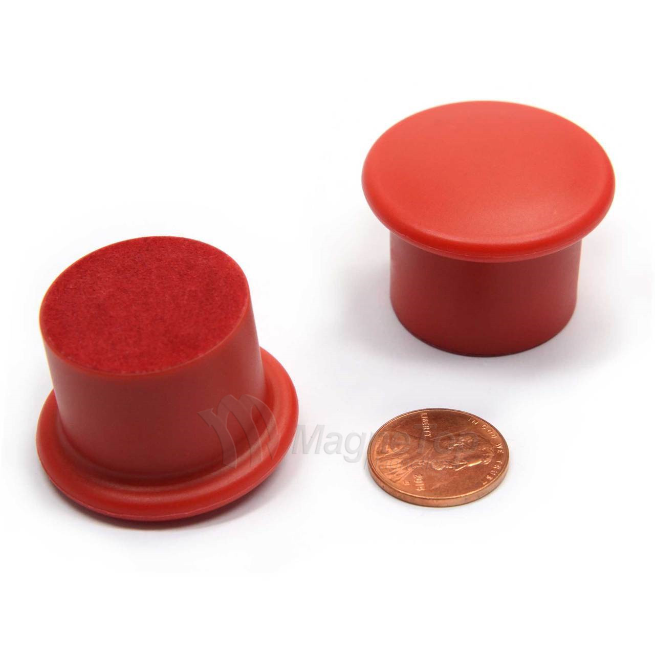 24 Pieces of Magnetic Whiteboard Round Holders Assorted Color