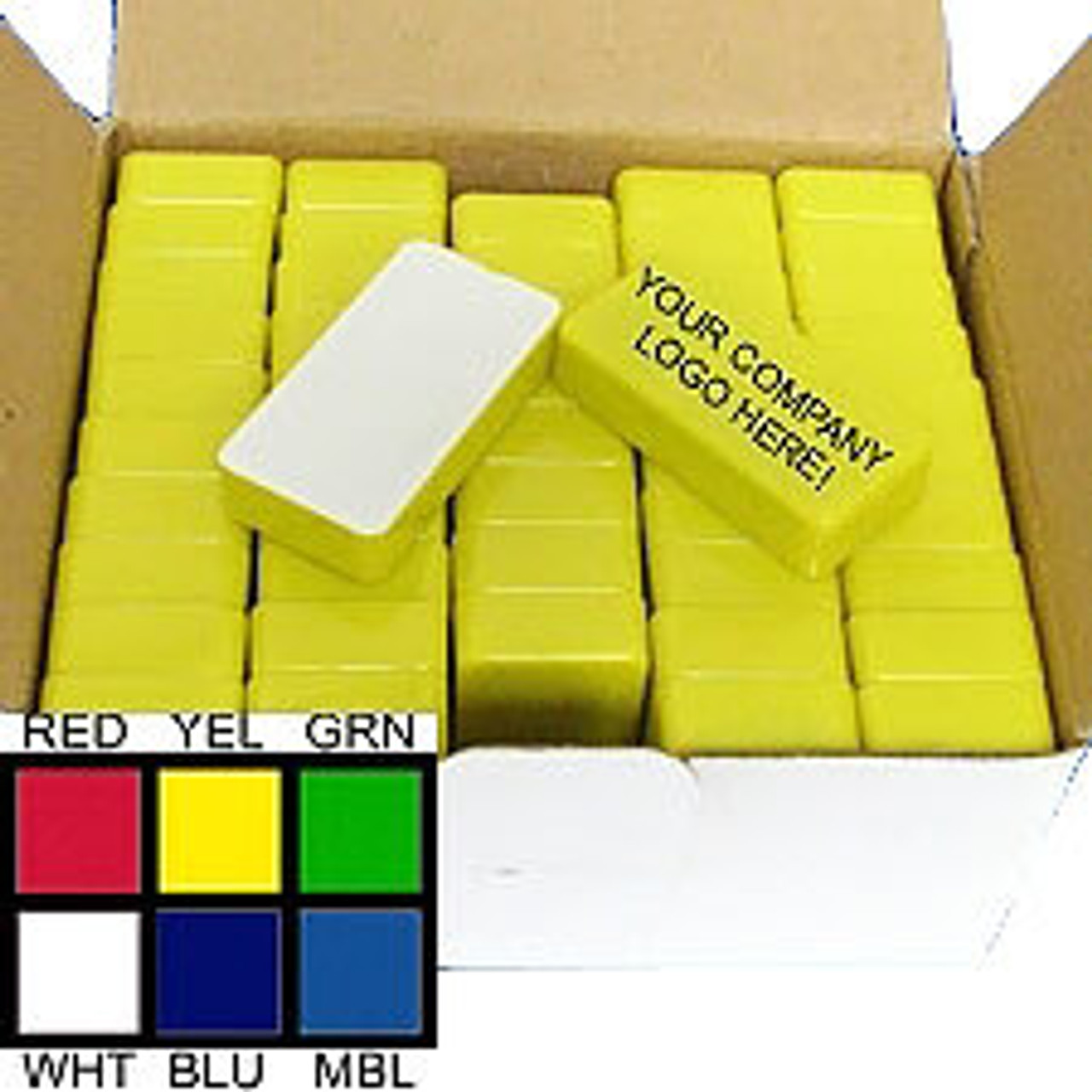 50 Pieces Domino Magnetic Whiteboard Holders Plastic Coated