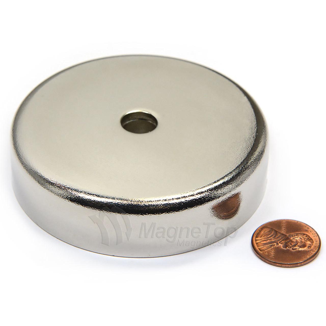 Neodymium Pot 75mm dia. Countersunk 183kg Holding Force