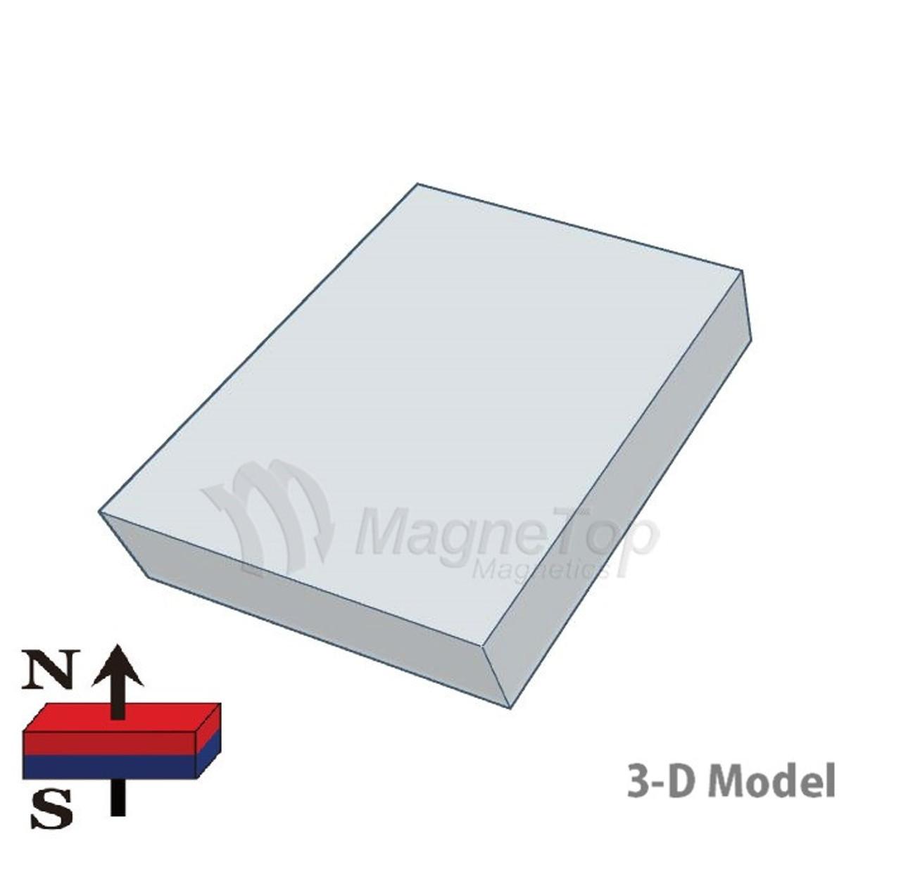 Neodymium Block - 10mm x 8mm x 2mm