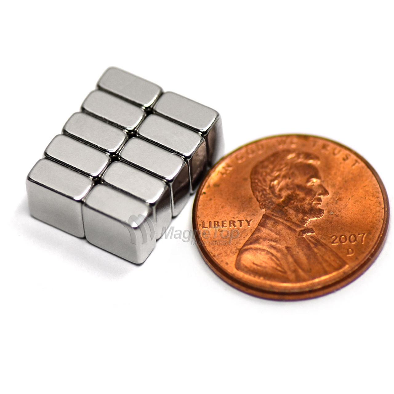 Neodymium Block  -  6mm x 6mm x 3mm - N40