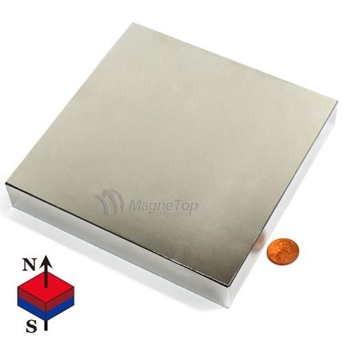Neodymium Block - 152.4mm x 152.4mm x 25.4mm - N42