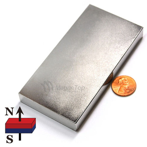 Neodymium Block  -  100mm x 50mm x 12.5mm - N42